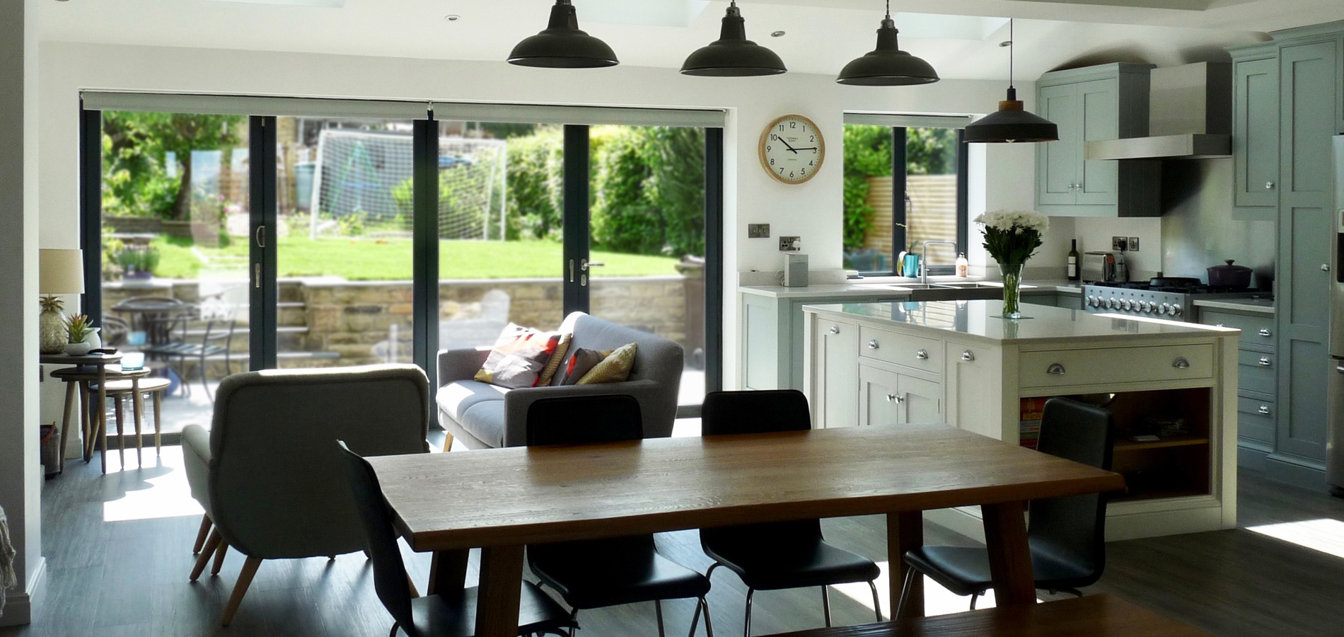 Create modern open plan living spaces