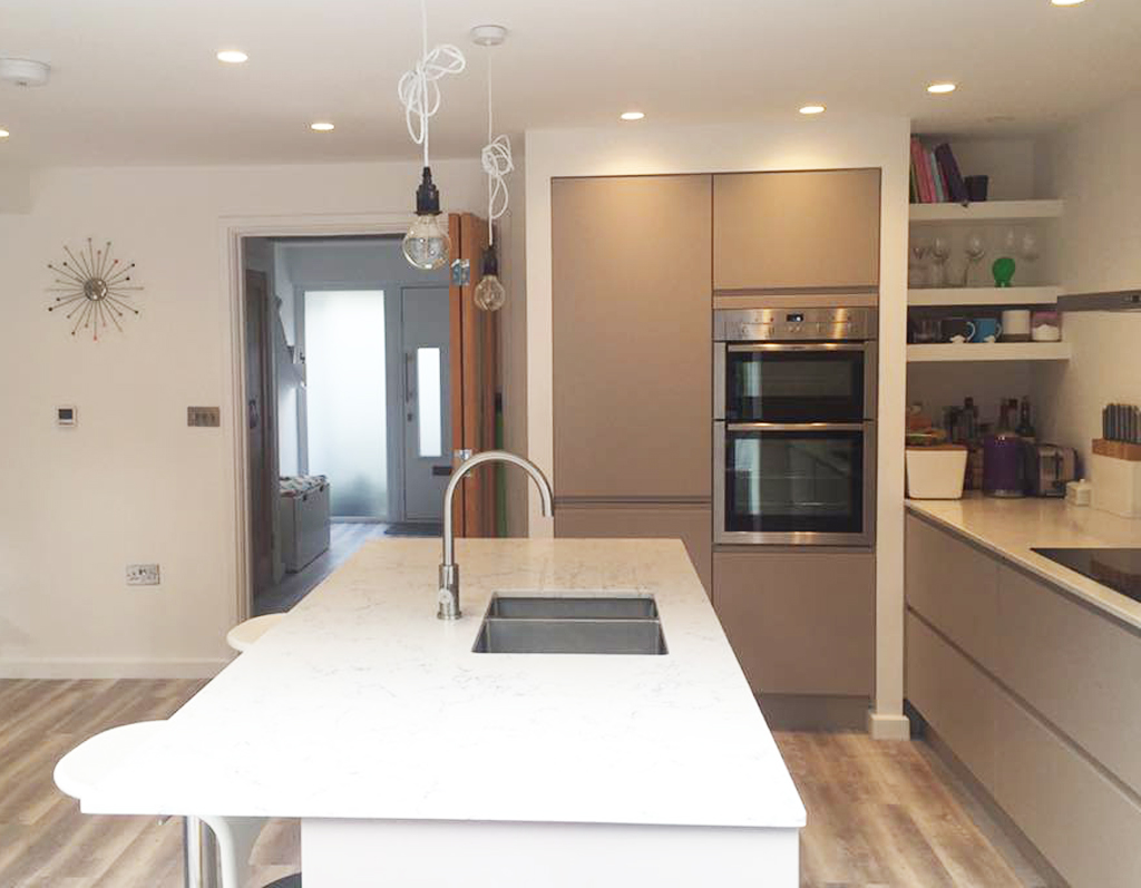 Modern hand built kitchen - West Yorkshire